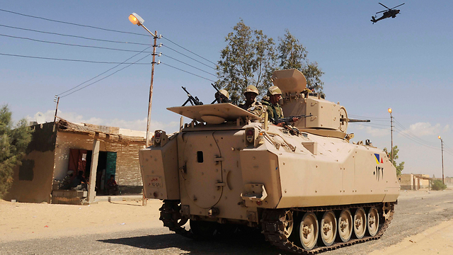 Egyptian security forces in Sinai (Archive photo: AP)