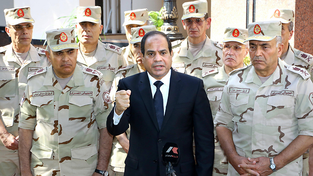 Egyptian President al-Sisi. Dealing with operations against Egyptian government facilities, sometimes on a weekly basis (Photo: AFP)  (Photo: AFP)
