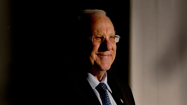 Preisdent Reuven Rivlin at ceremony for Kafr Qasim massacre (Photo: AP)