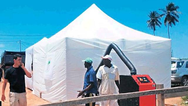 Special tent is being used to fight Ebola