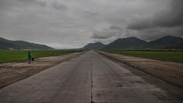 כביש מהיר מזרחית לפיונגיאנג  (צילום: AP)