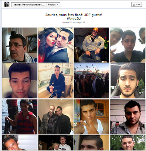 Photos of Jewish residents on Anti-Semitic Facebook page