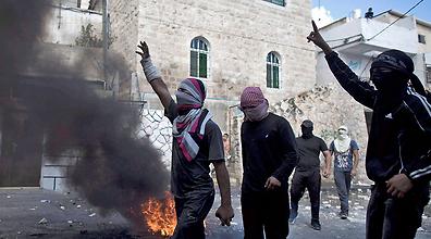 מהומות באבו טור (צילום: EPA)