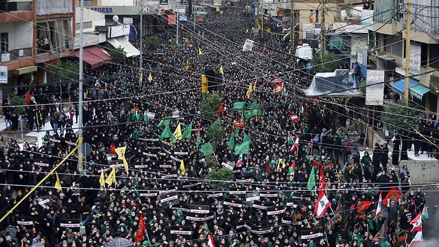 Pro-Hezbollah protest, Lebanon (Photo: AFP)