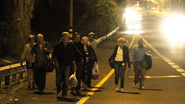 People near factory forced to evacuate (Photo: Ido Erez)