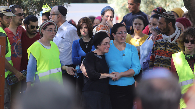 Friends and family mourn terror victim Dalia Lemkus. (Photo: Gil Yohanan)