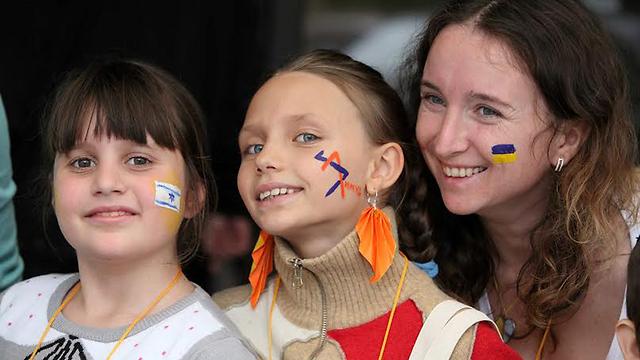 יהודים מכל העולם התכנסו באוקראינה (צילום: יוסי אלוני)