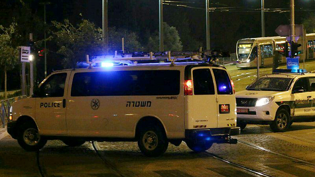 Scene of attack (Photo: Hillel Meir, Tazpit)