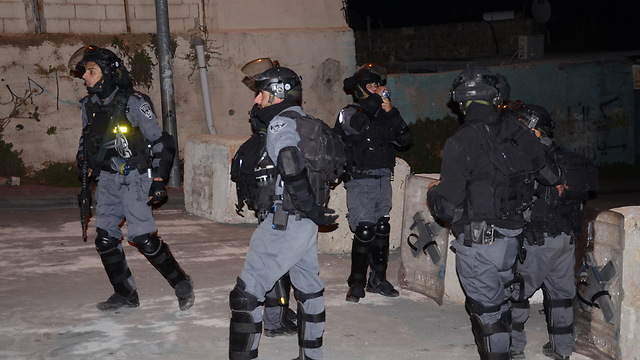 Palestinian police officers in East Jerusalem. (Photo: Mohammed Shinawi)