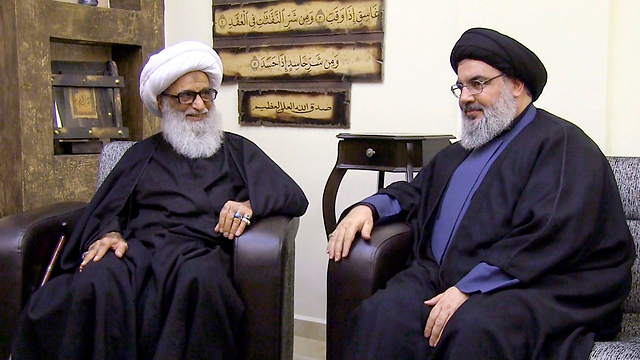 Nasrallah with Najafi (Photo: AP)