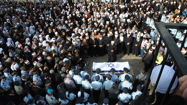 Thousands at Sif's funeral (Photo: Avihu Shapira)