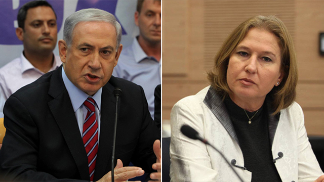 Netanyahu and Livni (Photo: Gil Yohanan, Eliyahu Hershkovitz)