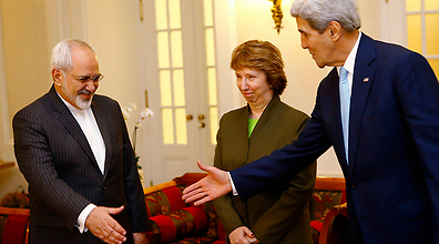 John Kerry, Catherine Ashton and Mohammad Zarif in Vienna over the weekend. (Photo: Reuters)