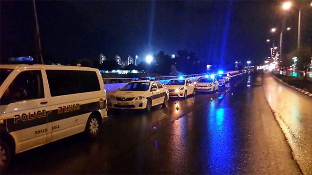 Scene of hit and run (Photo: Gilad Morag)