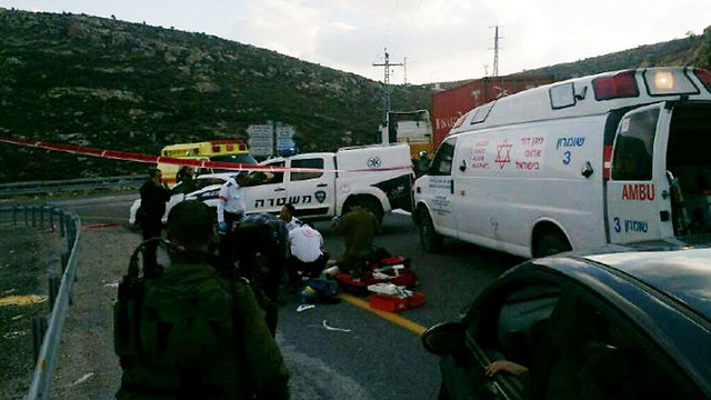 Scene of run-over incident (Photo: Israeli Police)