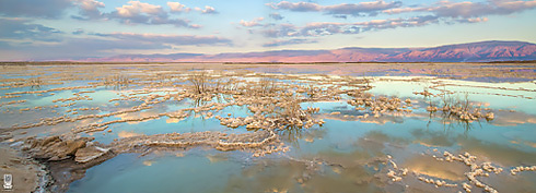 Salt evaporation ponds near Neve Zohar, the Dead Sea (Photo: Ittay Bodell)
