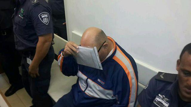החשוד בחטיפה, היום בבית המשפט (צילום: רועי עידן)