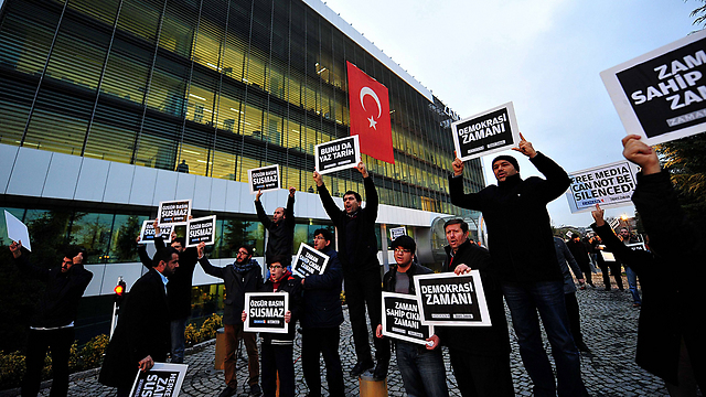 Protest against attempts to silence the press in Turkey (Photo: AFP)