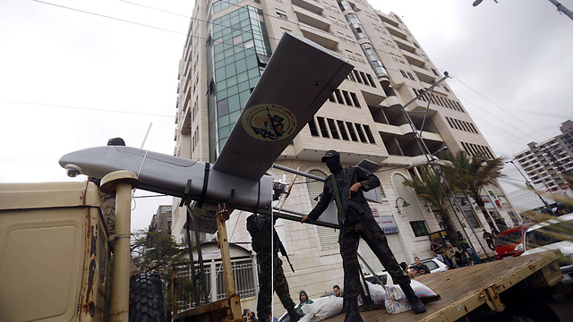 A Hamas drone on display in Gaza (Photo: AFP) (Photo: AFP)