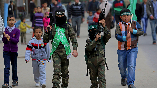 Gaza's children join in the rally. (Photo: AP) (Photo: AP)