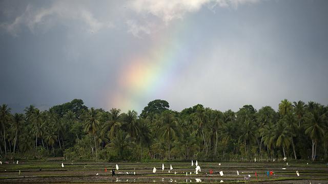 משלחת אינדונזית ביקרה בחשאי בכנסת. אצ'ה, אינדונזיה (צילום: AFP)