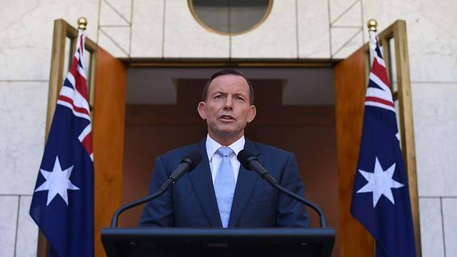 Australian prime minister at press conference (Photo: EPA)