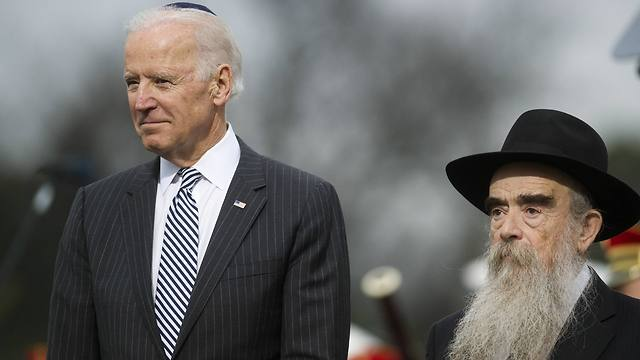 Biden lights Hanukkah candles in Washington. (Photo: Associated Press)