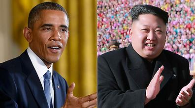 הנשיא אובמה ומנהיג צפון קוריאה קים ג'ונג און (צילום: רויטרס)