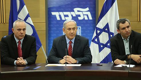 ראש הממשלה, זאב אלקין ויוב שטייניץ (צילום: גיל יוחנן)