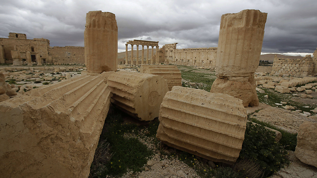 Temple of Bel-Shamin in Palmyra (Photo: AFP)