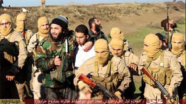 Islamic State takes the Jordanian pilot captive.