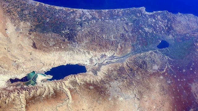 Israel from space (Photo: Barry Wilmore)