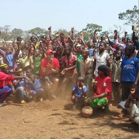 Children play at Cameroon refugee camp (photo courtesy of the Israeli Embassy in Cameroon)