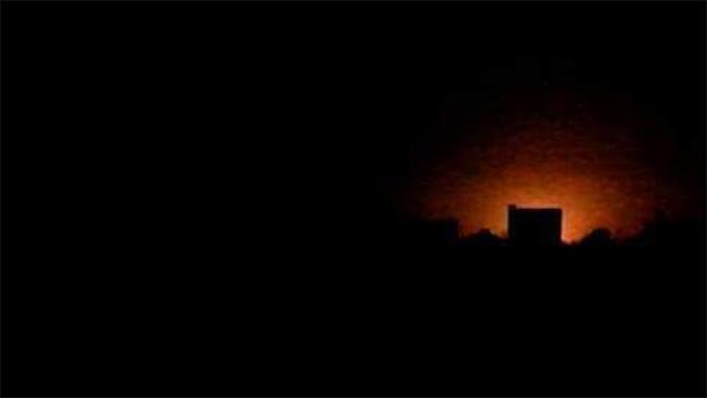 אש באזור רקה, אחרי ההפצצות הלילה ()