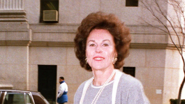 Former Miss America Bess Myerson arrives at US District Court (Photo: AP)