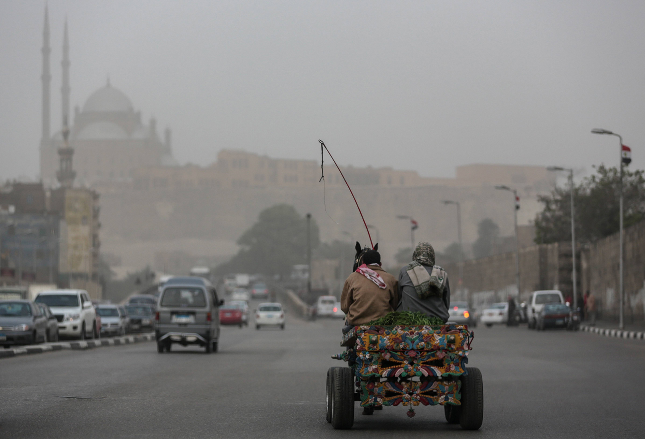Haze goes as far as Cairo, Egypt (Photo: AP)