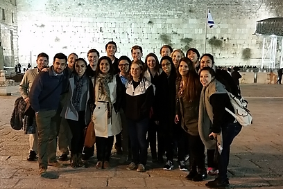 American campus leaders at the Western Wall (Photo: ADL)