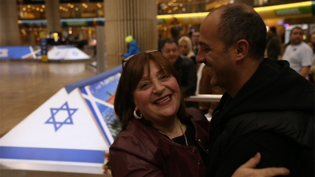 French Jews making aliyah to Israel (Photo: Motti Kimchi)