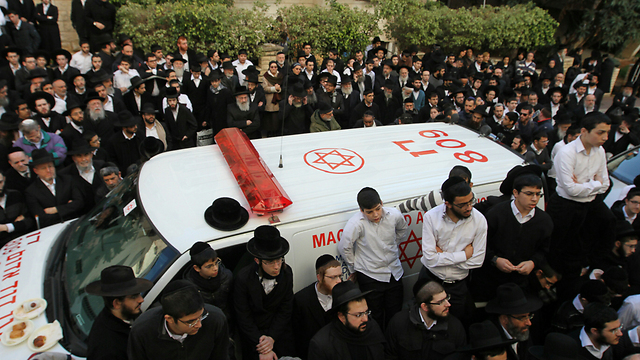 Yoav Hattab's funeral procession (Photo: Ido Erez)