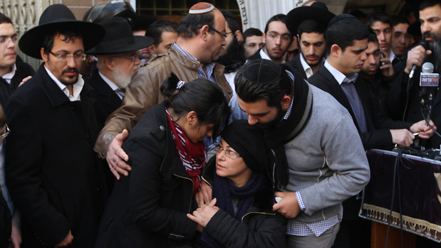 Hattab's relatives at the funeral (Photo: Ido Erez)