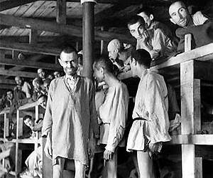 Prisoners at Buchenwald during the Holocaust. (Photo: AP)