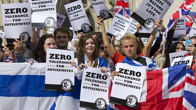 Protest against anti-Semitism in London (Photo: AFP)