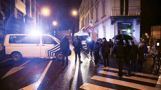 Scene of Belgium antii-terror raids (Photo: AFP)
