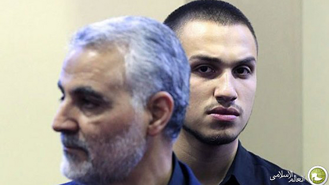 Mughniyeh with Qasem Soleimani, a Revolutionary Guards commander