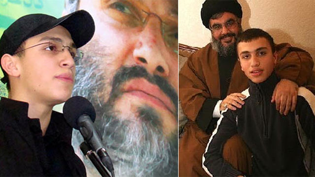 Jihad Mughniyeh (on the right with Hezbollah leader Hassan Nasrallah)