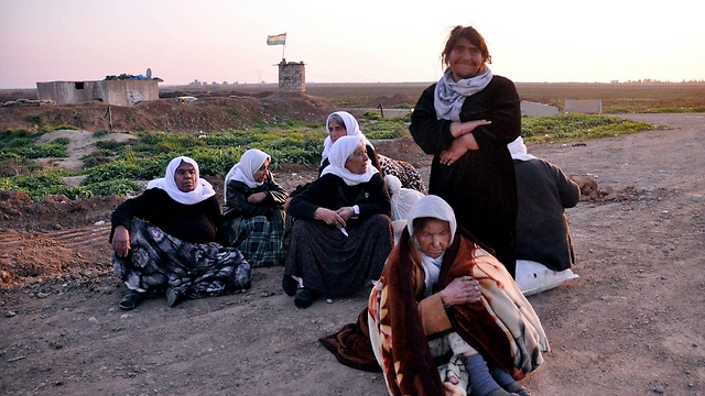 Elderly Yazidi women freed by Islamic State group. (Photo: EPA)