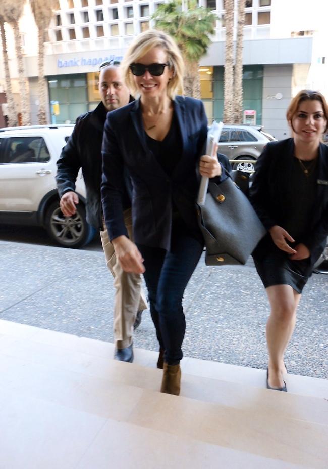 Chelsea Handler in Israel. (Amir Meiri)