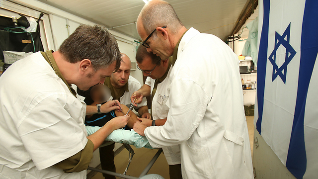 IDF field hospital in Golan Heights (Archive photo: Elad Gershgoren)