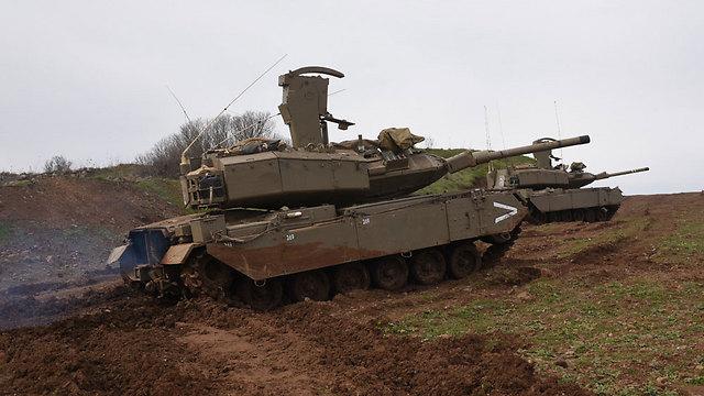 טנקים ברמת הגולן, היום (צילום: אביהו שפירא)