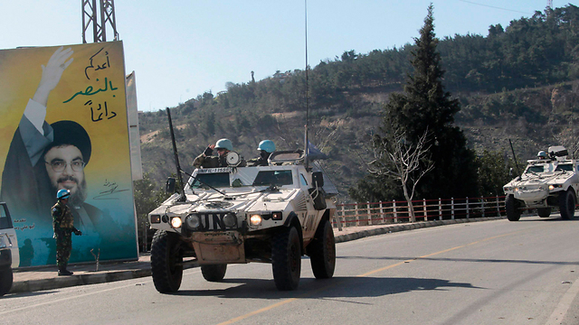 UN vehicles in southern Lebanon (Photo: Reuters)